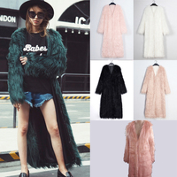 Lanshifei Young Girl Faux Fur Coat Fox Long Coat Long Fur Jacket Women 2018 Winter New Design Long Style Parka Lady Club Coat
