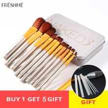 FRESHME 2019 New Makeup Brushes Set 12 pcs/lot Eye Shadow Blending Eyeliner Eyelash Eyebrow For Brush Sets Tools