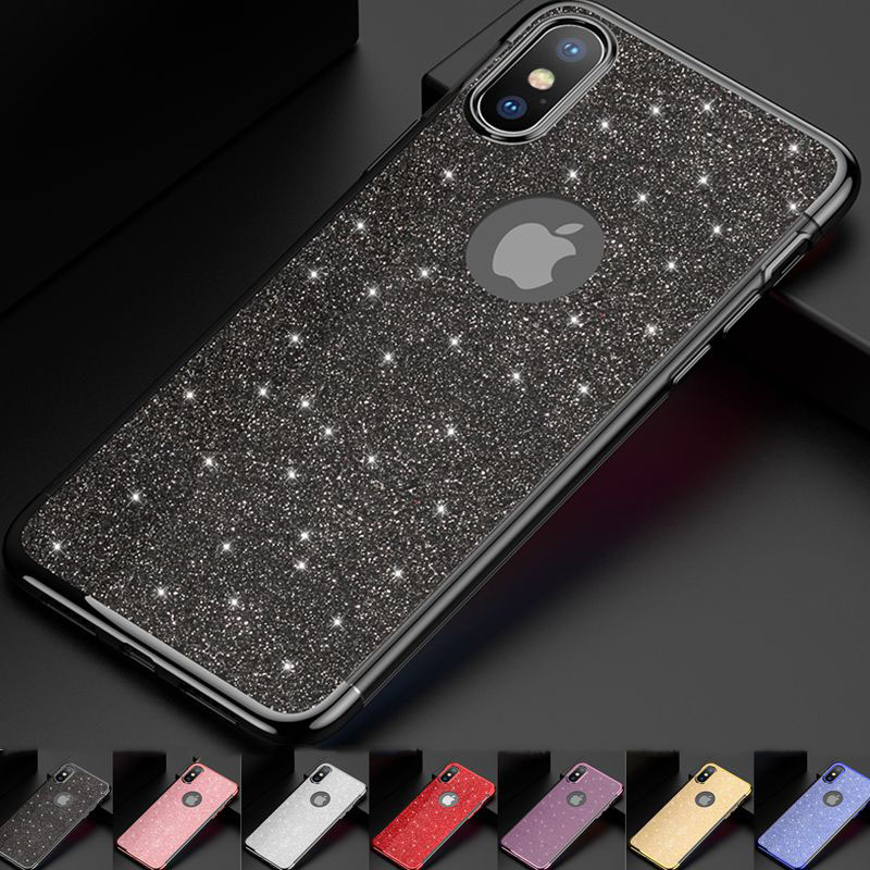 Luxury Shinning Case For IPhone XS Max XR X Bling Glitter Cover For IPhone 8 7 6S 6 Plus