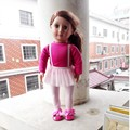 Fashion 18 Inch American Girl Doll Clothes Of Leisure Doll Dress And Shoes AG382