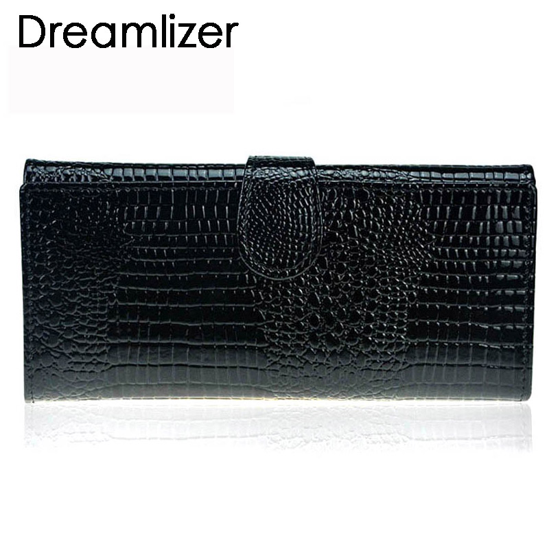 3 Fold Genuine Leather Women Wallet Hasp Crocodile Female Clutch Purse Brand Leather Money Bag Wallet Women Card Holder цена