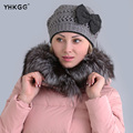 2016  Women Genuine Knitted Rex Rabbit Fur Hats Natural Stripe Rex Rabbit Fur Caps lady winter warm Headwear free shipping
