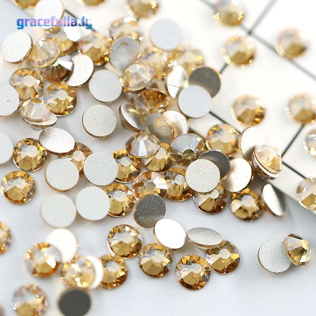GSHA AB SS3-SS20 Nail Rhinestones Non Hotfix Flatback Crystal Glass  Rhinestones for Nails Gem Decorations 1440pcs pack a03b0db50bba