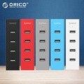 ORICO H4013-U2 4 Порта USB2.0 HUB для MAC Ноутбук Отлично с 30 СМ Кабель для Передачи Данных-Черный/Серый/синий/Красный