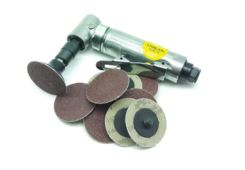 New Pneumatic Angle Die Grinding Machine with 2 50pcs Abrasive paper High Quality Air Tools
