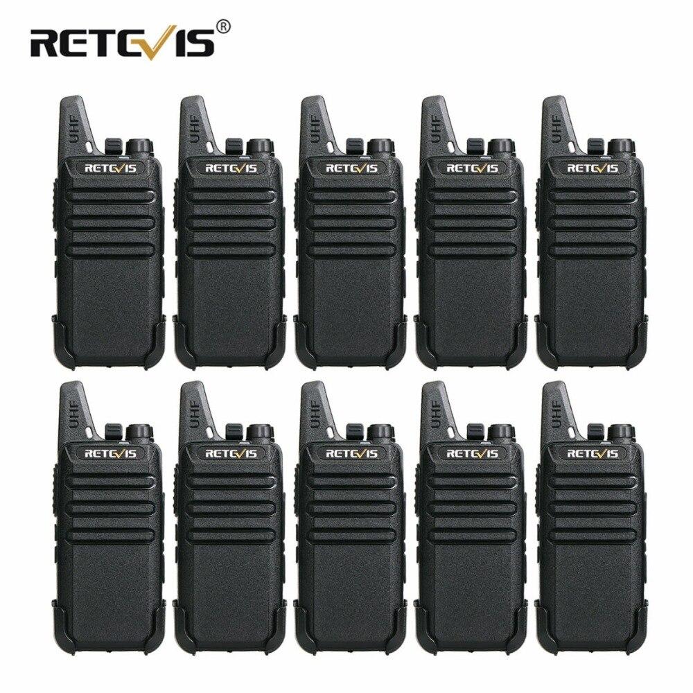 10 шт. Retevis RT22 мини двухканальные рации 2 Вт VOX USB зарядка портативный двухстороннее радио станции отель/Ресторан связь оборудования