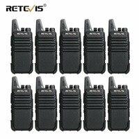 10 шт. Retevis RT22 мини портативной рации 2 Вт VOX USB зарядка Портативный двухстороннее радиостанции отель/ресторан оборудование для связи