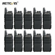 10pcs Cheap Wholesale Walkie Talkie Retevis RT22 2W UHF Band VOX Scan CTCSS/DCS Amateur Radio 2 Way cb Radio Handy Walkie-Talkie