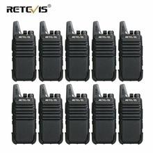 10 pcs Retevis RT22 mini telsiz 2 W VOX USB Şarj Taşınabilir Iki Yönlü Radyo Istasyonu Otel/Restoran Iletişim Ekipmanları