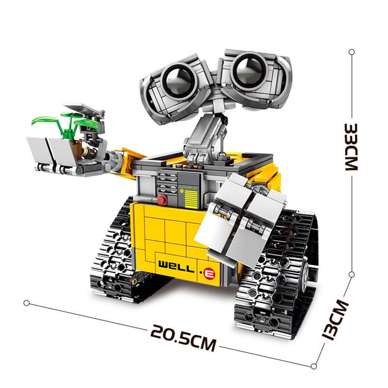 RC télécommande mur E Robot C Figure blocs de construction briques modèle jouets Compatible avec 16003 Technic 21303 - 2