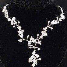 Потрясающее серебряное колье с обручальным кольцом для женщин из белого сапфира 25 5 г 18 5-19 дешево!
