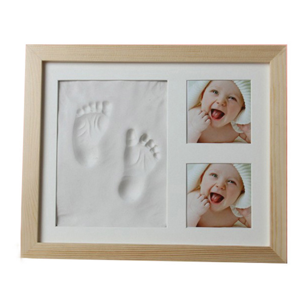 Gifts Baby Footprint Non-toxic Souvenirs Handprint Kit Infant Imprint Casting