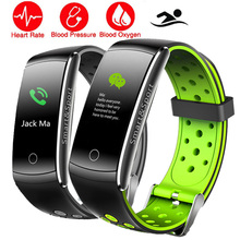 Colour HR/BP Sensible Watch Swim IP68 Coronary heart Charge/Blood Stress Monitor Well being Health APP GPS Smartwatch For IOS/Honor/Huawei PK K8