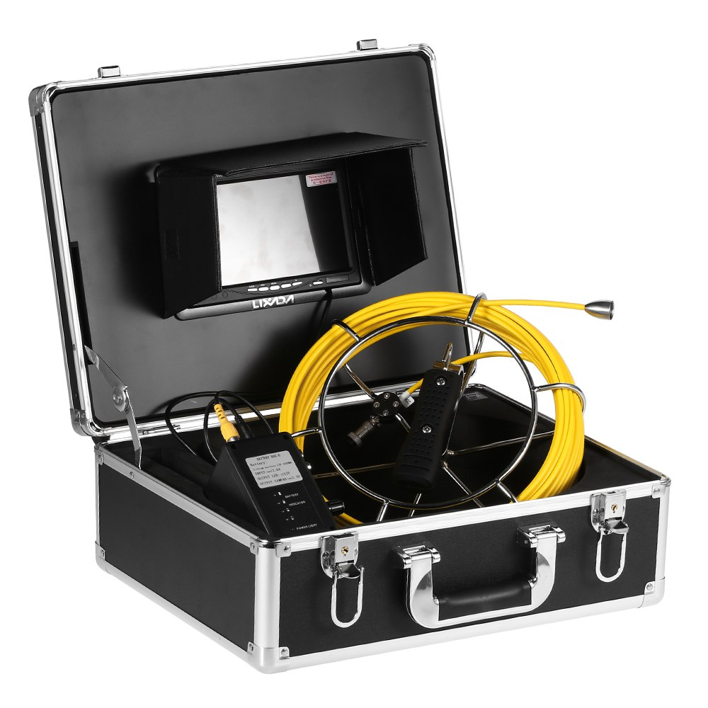 Lixada 20M / 30M Cable Drain Pipe Sewer Inspection Camera Waterproof Industrial Endoscope Borescope Inspection Snake Camera