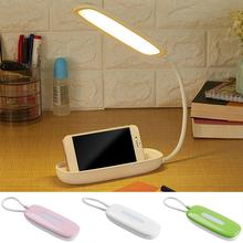 USB Rechargeable Table Light Foldable LED Desk Lamp 4 Lighting Modes Modern Touch Sensor Switch Eye Protect Reading Study Lamps недорого