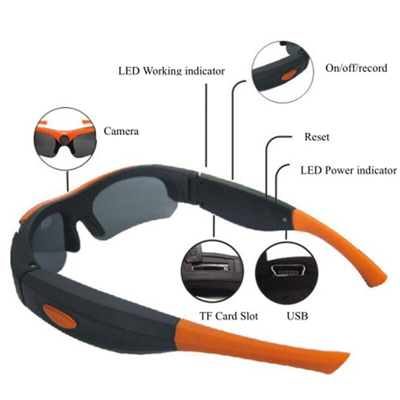 Novo HD 1080 P 8 GB 16 GB 32 GB Smart Camera Óculos Preto Laranja Lente  Polarizada óculos de sol Câmera Esporte de Ação Câmera de Vídeo Óculos em  Filmadoras ... f646d79f61