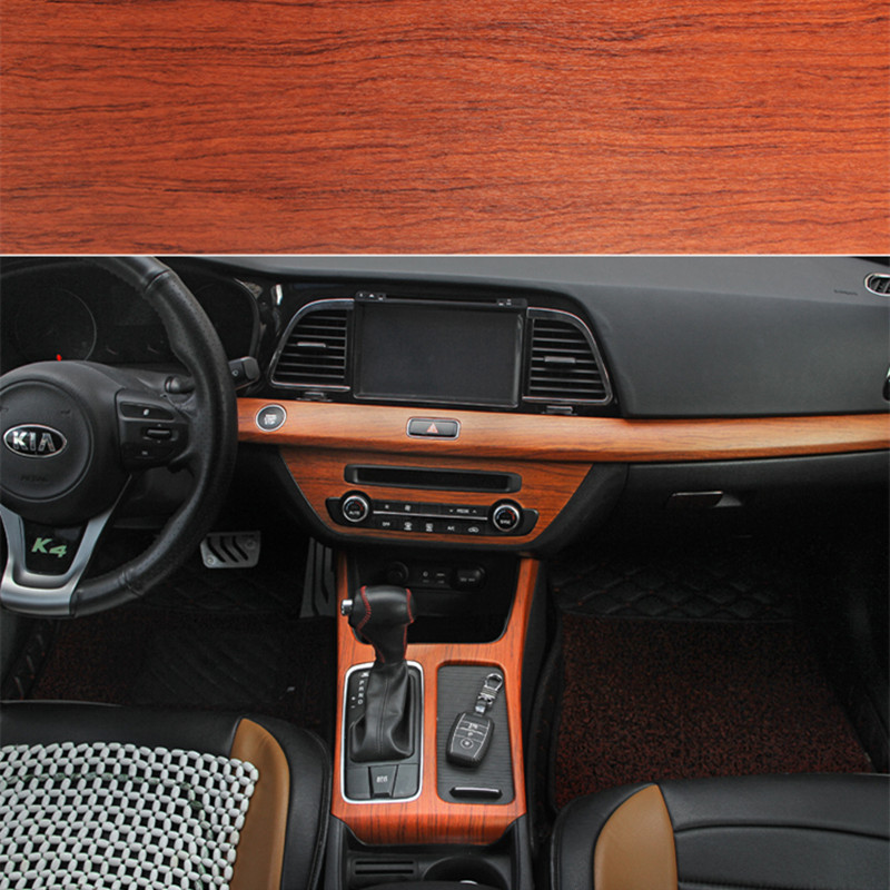 Anto Wood Grain Interior Car Stickers Cebtral Control 30cmx1m Glossy/Matte  Vinyl Wrap
