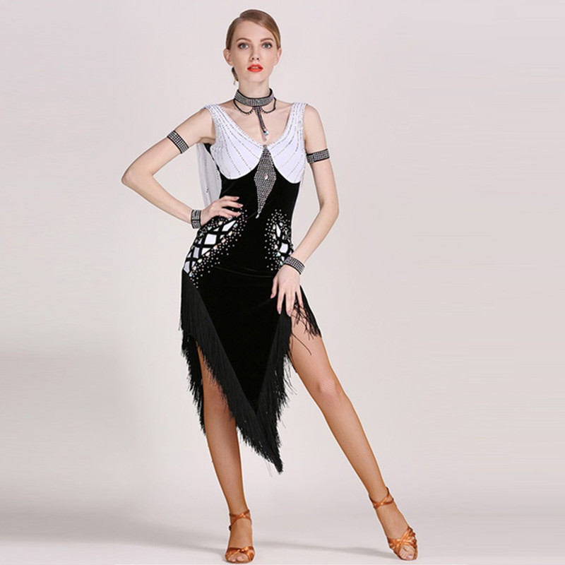 Sexy New Latin Ballroom Dance Dress Salsa Modern Waltz Tango Dress Dancer Vict