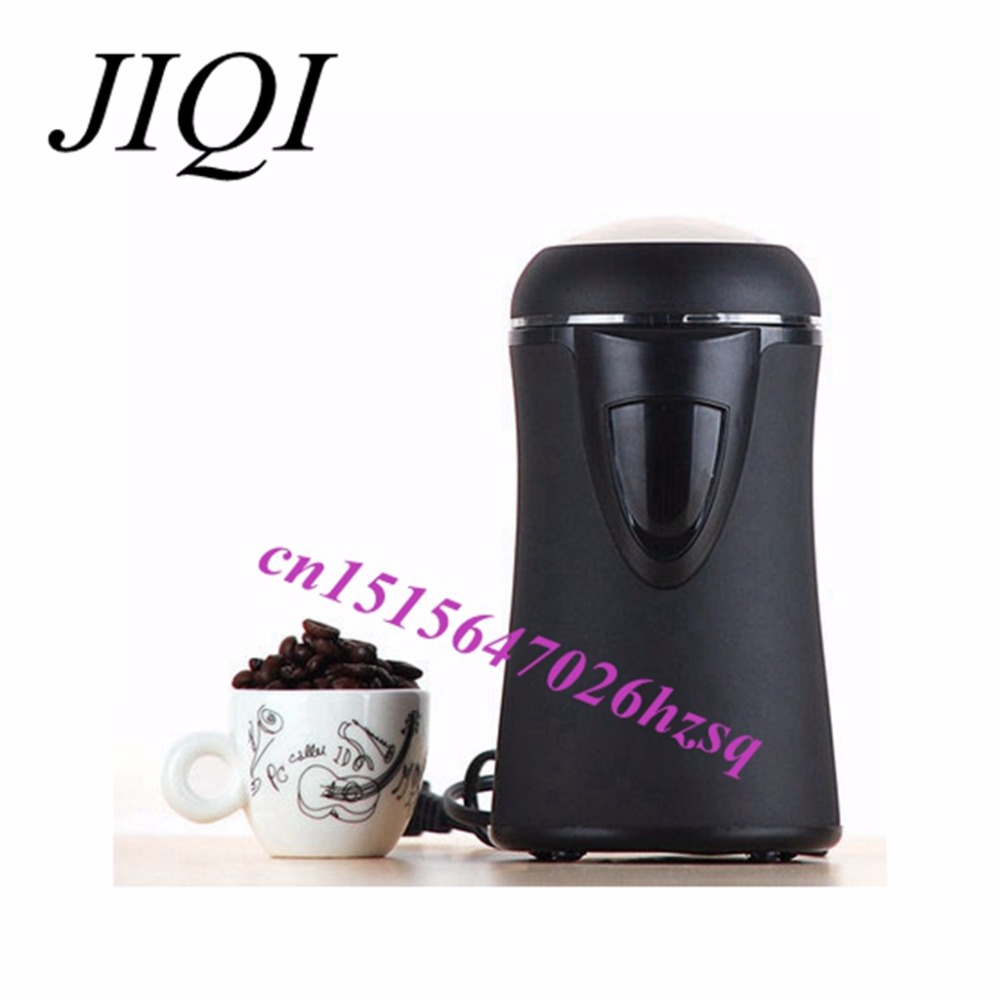 JIQI automatic coffee beans grinder Rapid grinding Beautiful and durable black  Various ingredients 50g hand coffee maker automatic espresso coffee machine grinding coffee beans heat preservation timing function all in one coffee maker