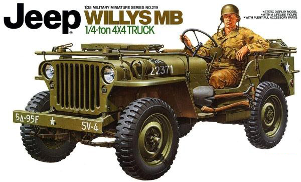 TAMIYA 35219  1/35 Scale  Jeep Willys MB 1/4 Ton 4x4 Truck willys jeep 1 10