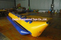 0.9mm inflatable PVC banana boat, inflatable boat,water game tube