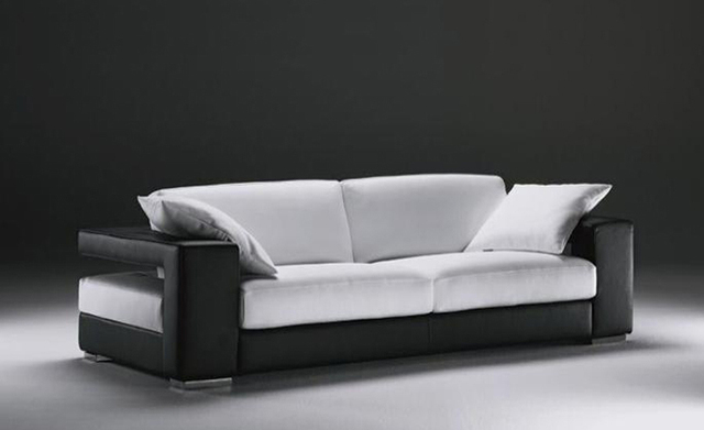 Sigle Sofa, Modern Design, Classic Simple Design, Genuine Leather 3 Seater  Sofa With