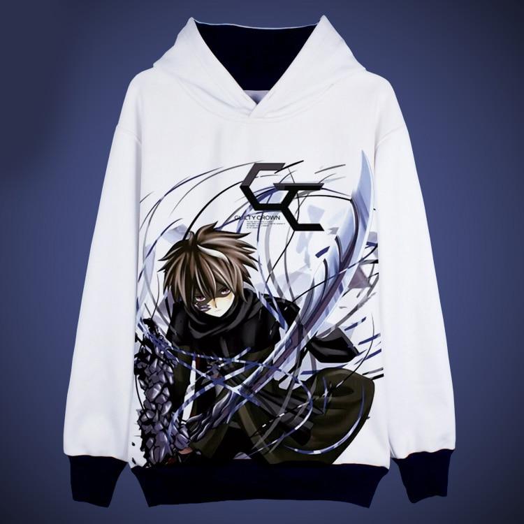 Coupable couronne Hoodies Shu Ouma Cosplay à capuche vestes manteaux automne hiver Sweatshirts