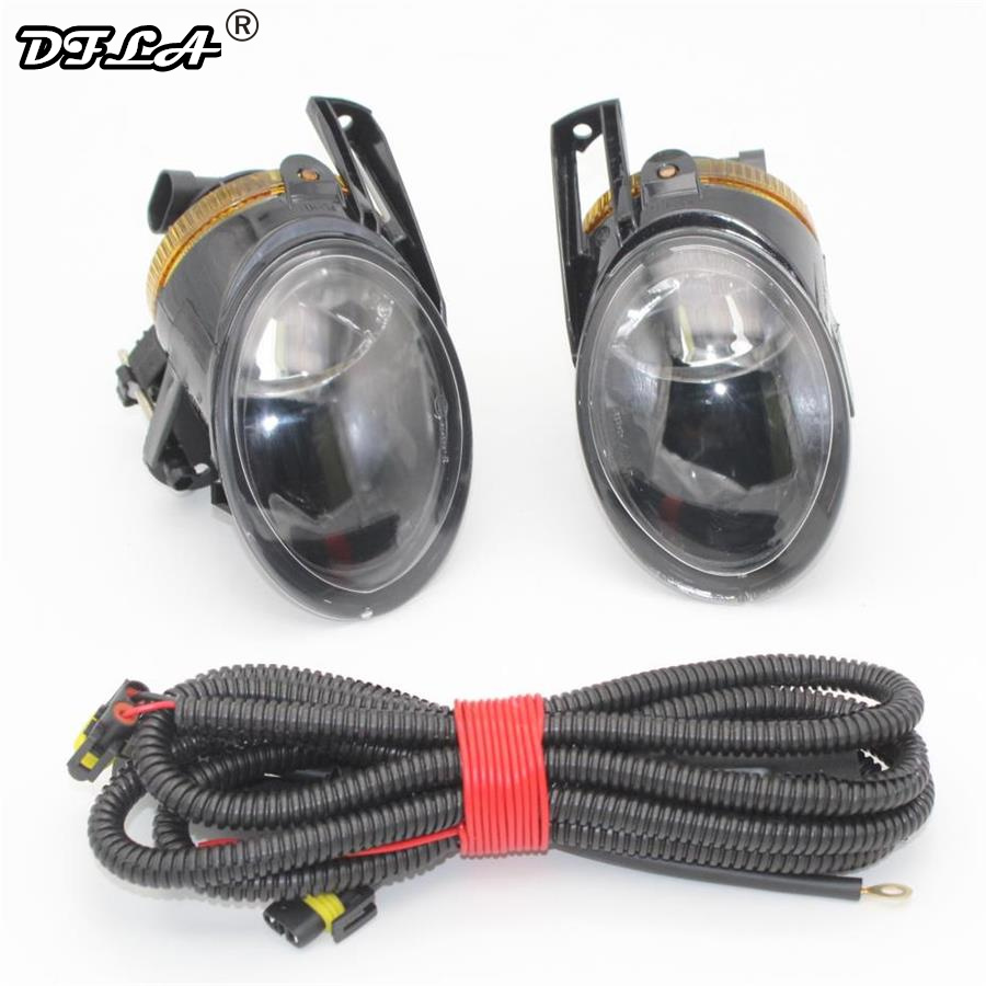 For VW Passat B6 3C 2006 2007 2008 2009 2010 2011 Car-styling Front Halogen Fog Light Fog Light With Bulbs+ Wire for vw passat b6 seden 2006 2007 2008 2009 2010 2011 led rear tail light lamp right side outer left hand trafic only