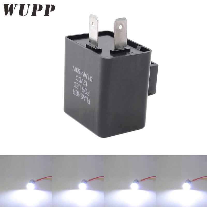 WUPP Electronic 12V White Led Turn Signal Flasher Blinker Indicator Lamp Relay Motorcycle 4Pcs Cob Light Bulb For Motorcycle
