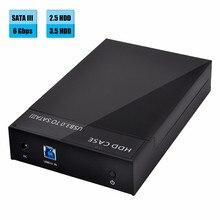 Del USB 3.0 External 2.5 3.5inch SATA Hard Drive Enclosure SSD HDD Disk Case SZ0411