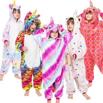 0ff4ebab4f Nuevo Kigurumi Onesie niños unicornio pijama bebé Animal Panda mono niños  niñas traje de los niños de invierno de la Operación Licorne de Manta