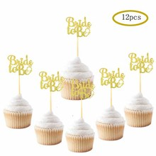 12pcs Bride To be Diamond Ring Cupcake Topper Wedding Engagement Bridal Hen Party Shower Cake Decoration