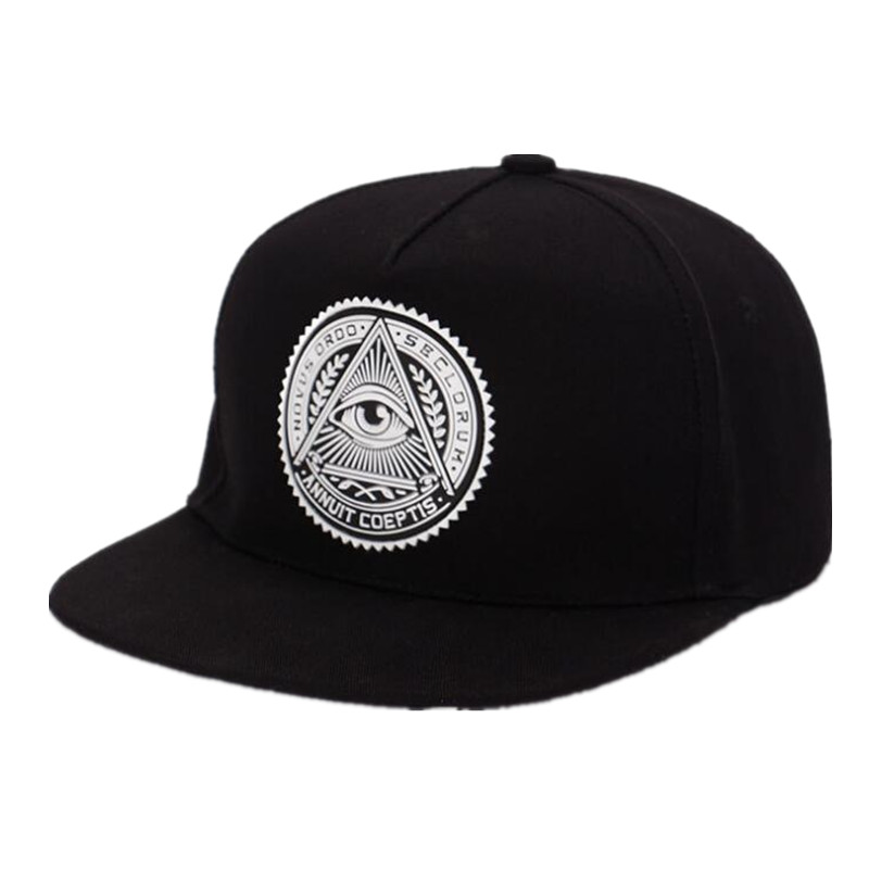 Snapback-Caps Baseball-Cap Hip-Hop-Hats Eye-Illuminati Adjustable Round Triangle Women