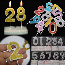 1 Pcs MultiColor Mini Digital 0-9 Birthday Candles Cake Candle Decoration Cute Kids Party