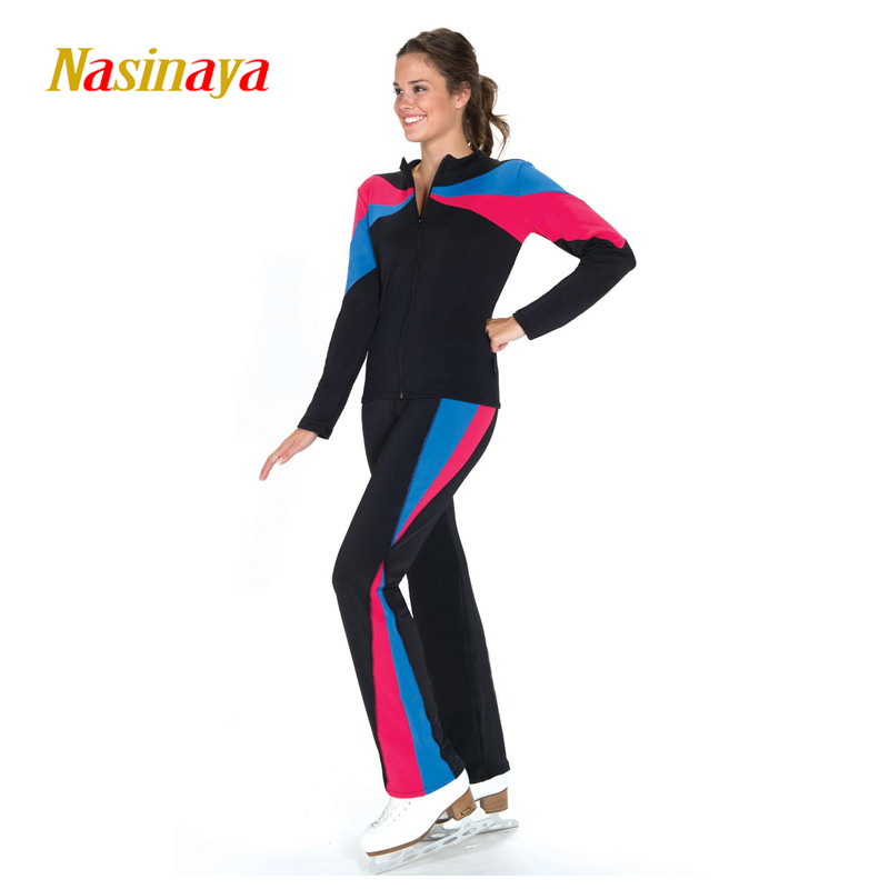 Customized Figure Skating Suits Jacket and Pants Long Trousers for Girl Women Training Patinaje Ice Skating Warm Gymnastics 10Customized Figure Skating Suits Jacket and Pants Long Trousers for Girl Women Training Patinaje Ice Skating Warm Gymnastics 10