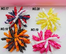 free shipping 45pcs 3.5''  korker bows (SEW ONES) korker hair bow colorful corker hair clips mix color boutique korker bows