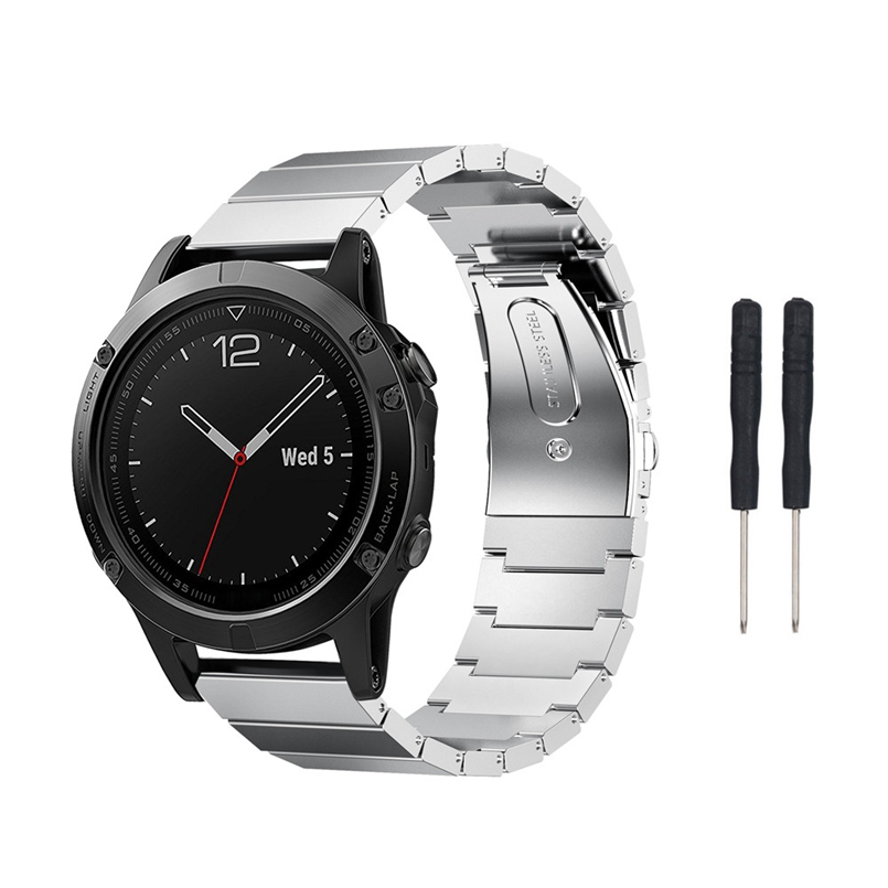 New Arrive 17cm Watch Band Metal Stainless Steel Watch Band Strap For Garmin Fenix 5S Dropship s3