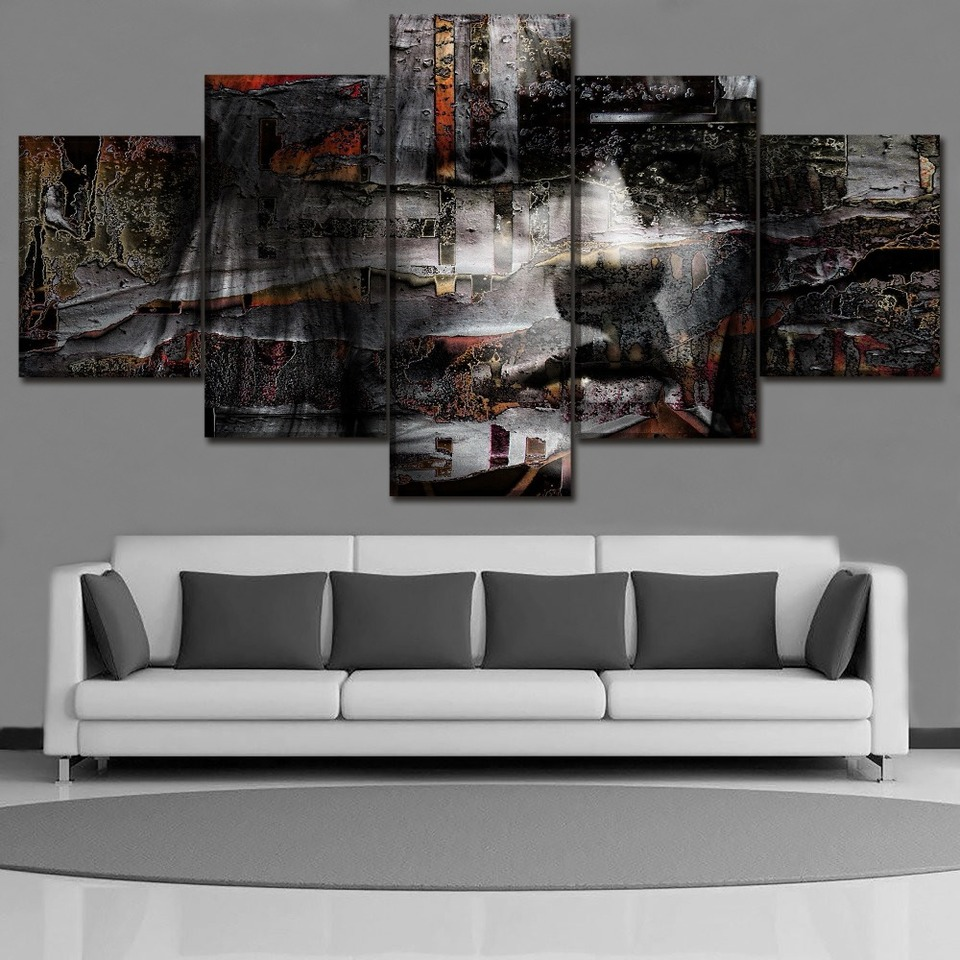 Canvas Hd Prints Pictures Home Decor 5 Piece Artistic Abstract Face Painting For Modern Living Room Wall Art Poster Framework Painting Calligraphy Aliexpress