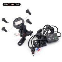Mobile Phone Holder For BMW R1200GS R1200R S1000R S1000XR Motorcycle GPS Navigation Mount Bracket With USB