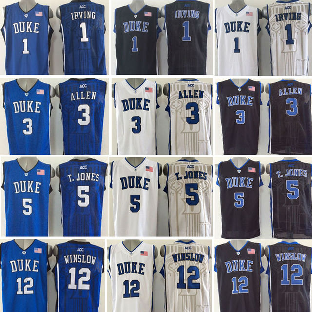... 3 Grayson Allen Jersey Duke Blue Devils 1 Kyrie Irving College  Basketball Jersey Black ... 31b9bb88c