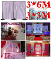 3*6M Wedding Stainless Steel Pipe 10ft(H) by 20ft(W) Wedding Backdrop Stand with expandable Rods Backdrop Frame Wedding supply