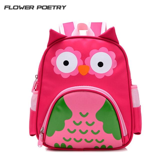 Cartoon Kid School Backpack Child Owl School Bag For Kindergarten Girl Baby Student Boy Character Cute Bear Children Backpack