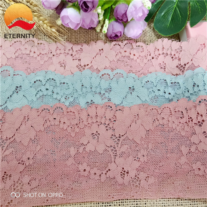 18.5 <font><b>E2670</b></font> Stretch Elastic Lace Ribbon pink Lace Embroidered Cotton Elasticity Lace Trim Trimmings Clothing Underwear image
