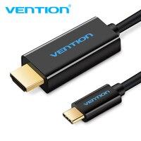Venção USB 3.1 USB C para Cabo HDMI Tipo C para HDMI Converter 3840*2160 30Hz para Samsung s8-tipo c para hdmi adaptador 1.8 m masculino