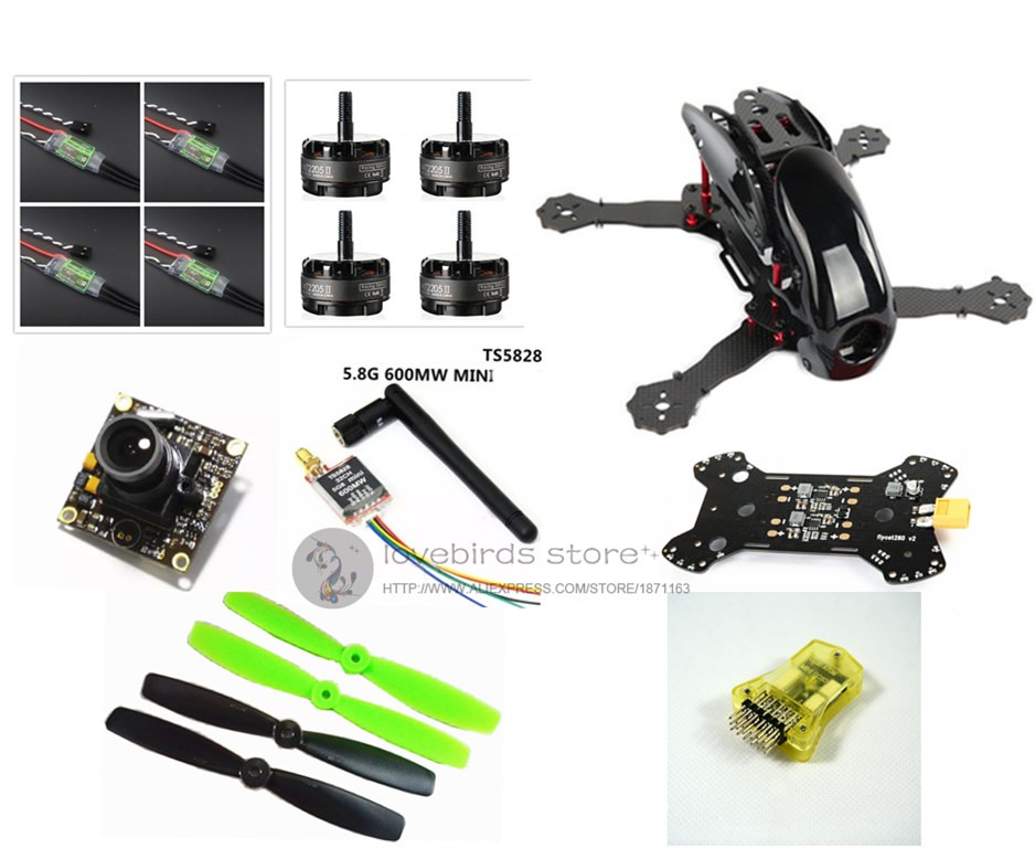 DIY FPV mini drone Robocat 270 V2 quad Fiberglass / carbon fiber frame kit mini CC3D+EMAX RS2205 2300KV + BL12A ESC +TS5828 diy fpv mini drone qav210 zmr210 race quadcopter full carbon frame kit naze32 emax 2204ii kv2300 motor bl12a esc run with 4s