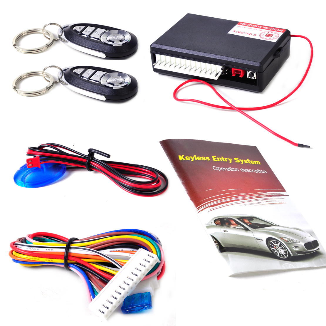 DWCX Car Vehicle Keyless Entry System Central Door Locking Control 2 Remote Controller for Ford BMW Nissan Audi VW Honda Toyota