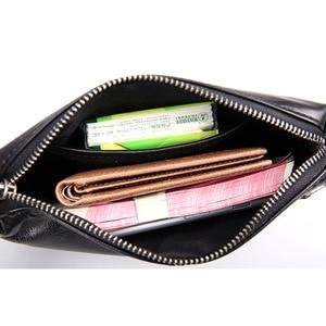 Image 4 - AETOO sac à main en cuir souple pour hommes, sacoche long rétro décontracté, sacoche pour téléphone portable