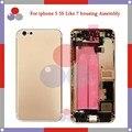 Высочайшее качество Для iphone 5 Как 7 Стиль 7 мини 5S Как для iphone 7 Стиль Полный Крышку Корпуса В Сборе со Шлейфом