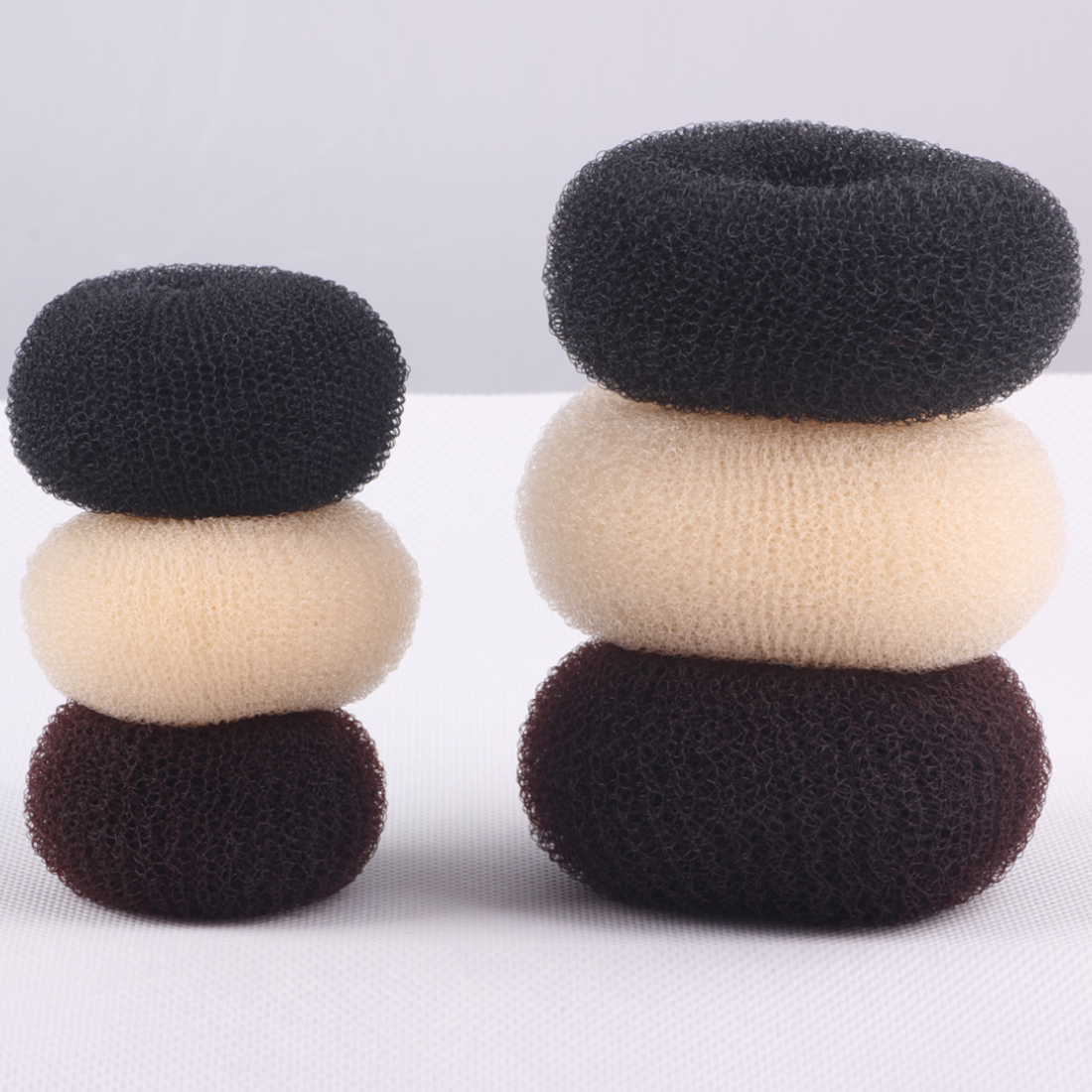 Ball Elastic Hair Bands Ladies Girls Headwear Disk Donuts Dish Hair Hairdressing Tools For Women Hair Accessories in Women 39 s Hair Accessories from Apparel Accessories