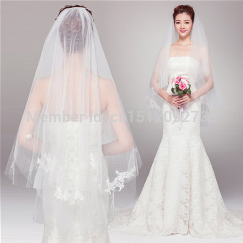 2016 NEW The new bride wedding dress accessories super long costly ...